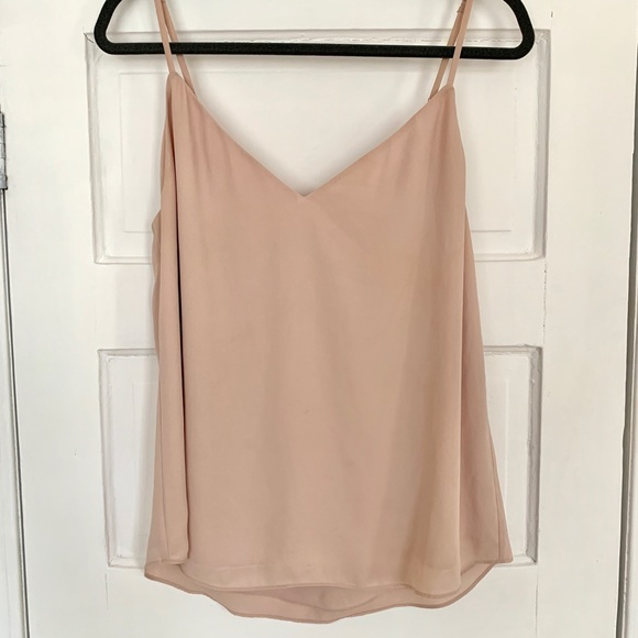 Babaton Everly V-Neck Camisole in Nude/Beige